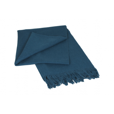 Image of Classic Throw - Petrol Blue