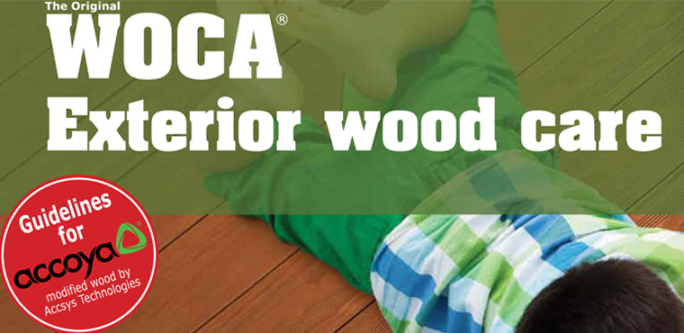 Woca Exterior Wood Care for Accoya
