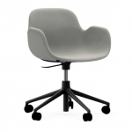 Form Armchair Swivel With Castors Upholstery