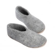 Grey Shoe With Heel