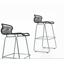 Panton One Barstool - Black