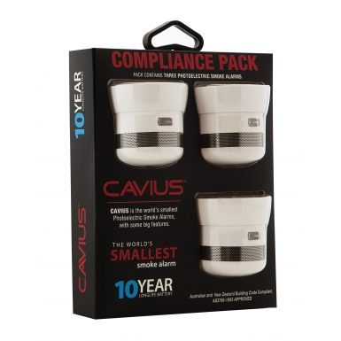 Image of Cavius 10 Year Smoke Detector Compliance Pack (3 pack)