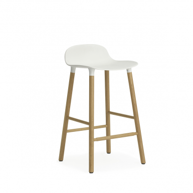 Image of Form Barstool - Wood