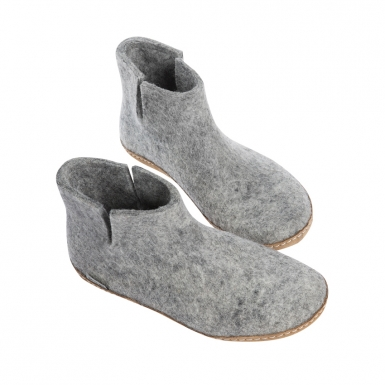Image of Grey Indoor Boots