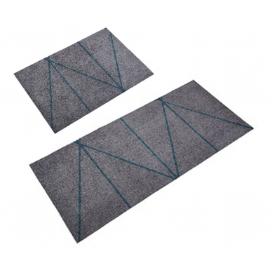 Image of All Round Mat - Triangle Grey/Petrol
