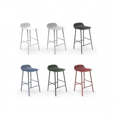 Image of Form Kitchen Stool - Steel